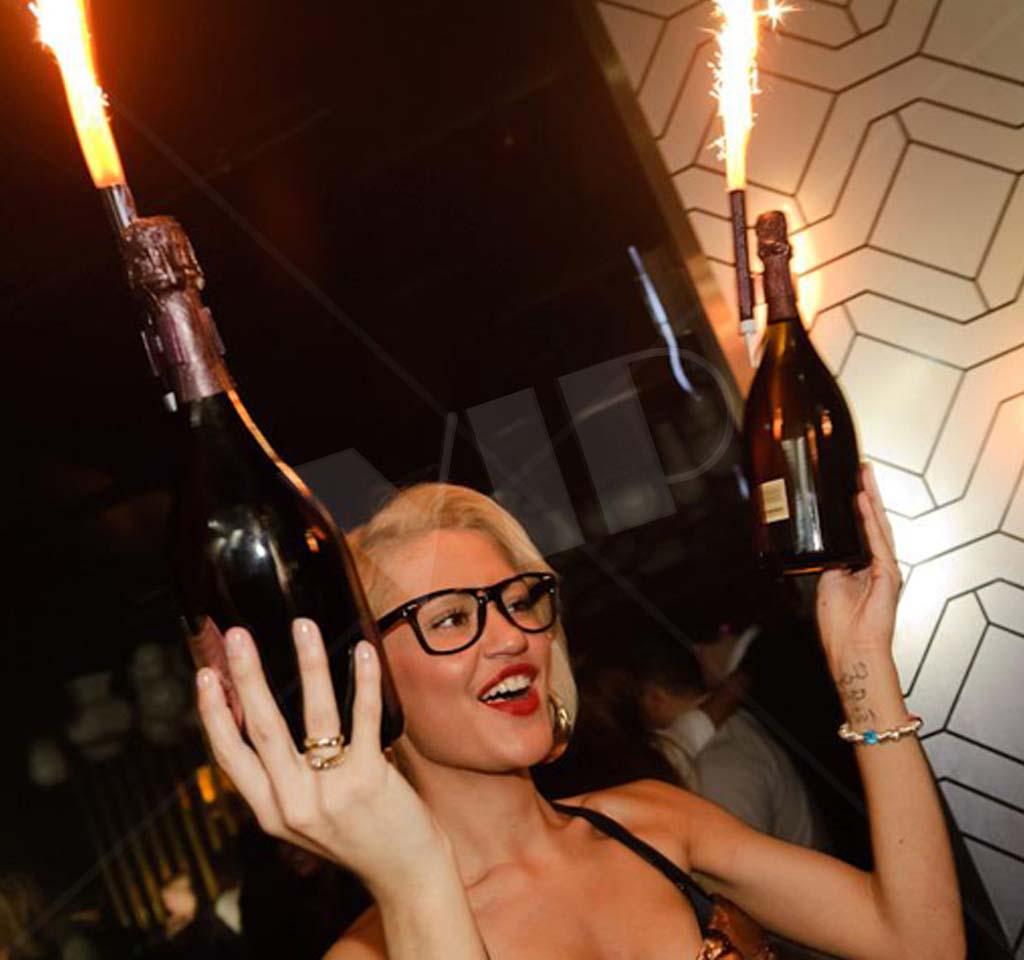 Champagne Bottle Sparklers Nite Sparx 45 Sec Night Club