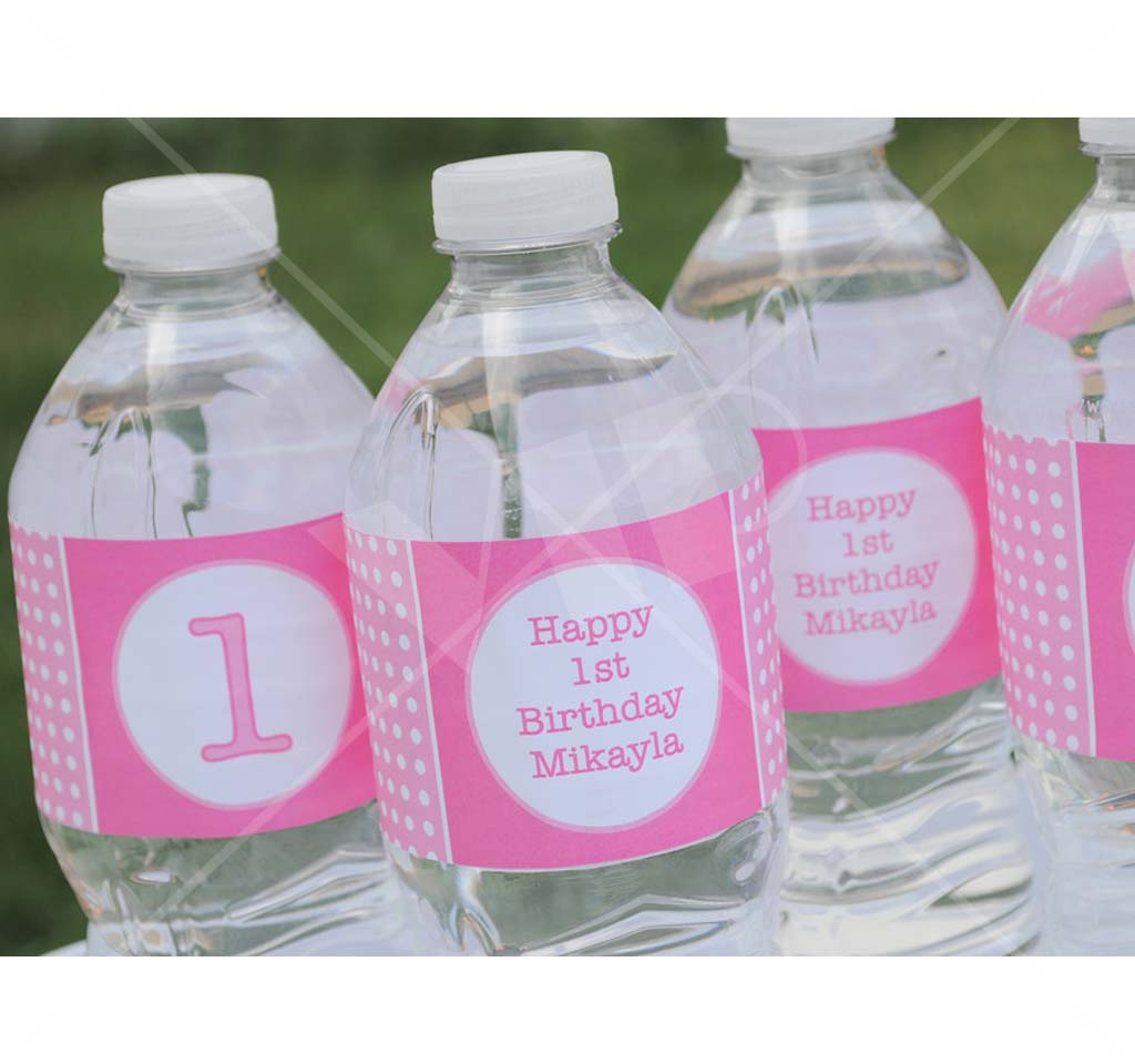 Custom Water Bottle Self Adhesive Labels Decor 2\