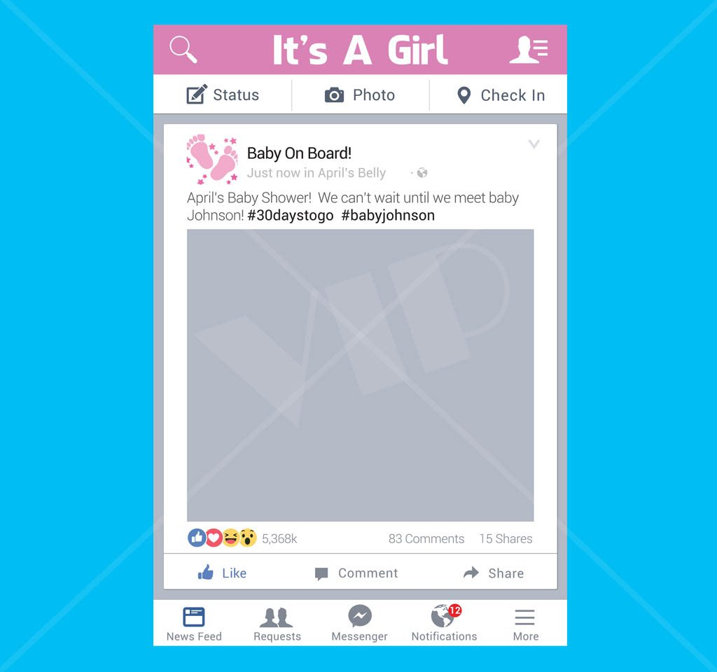 Social Media Photo Prop board baby shower its a boy its a girl baby ...