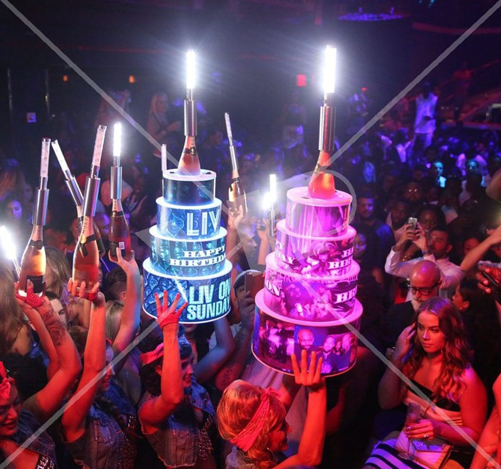 Vip Led Birthday Cake Bottle Presenter Holder Night Club