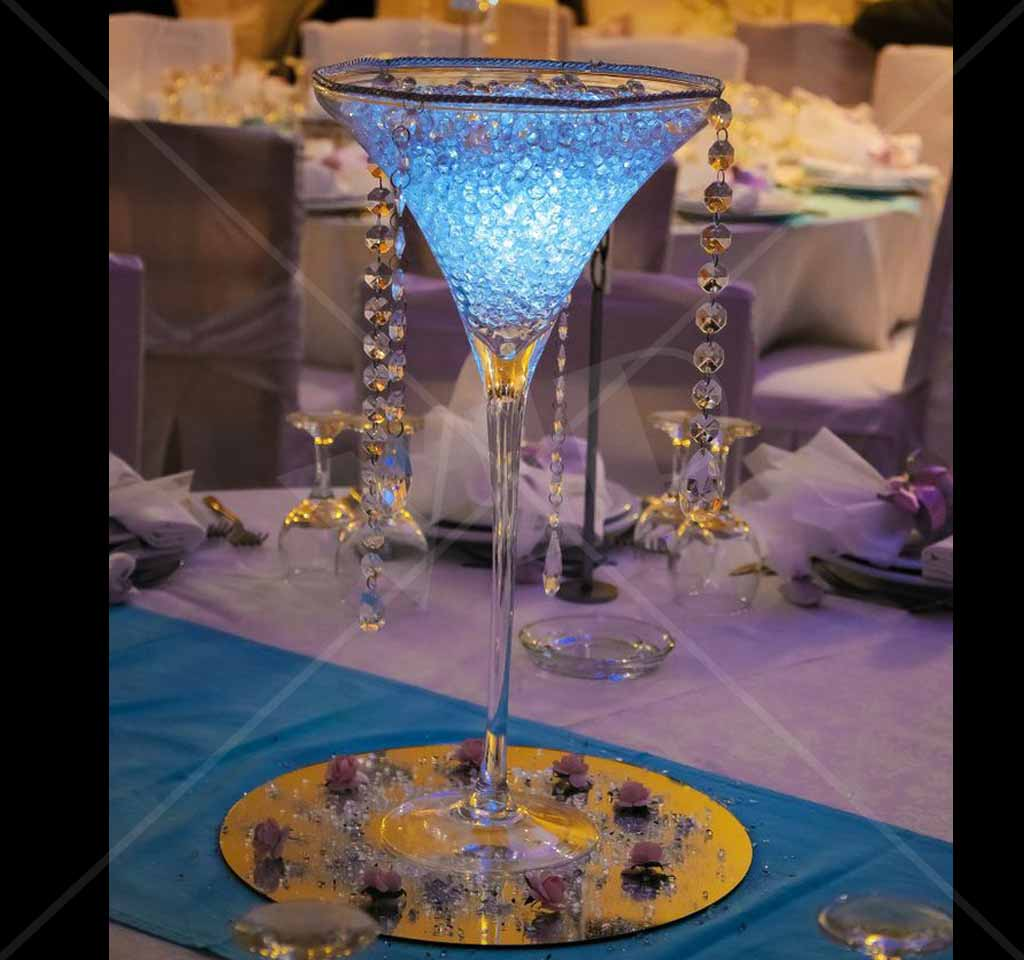 Glorifier led puck wedding center piece light up