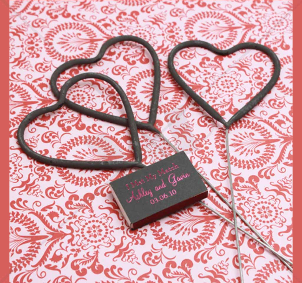 Wedding Heart Sparklers Large | Night Club Supplies