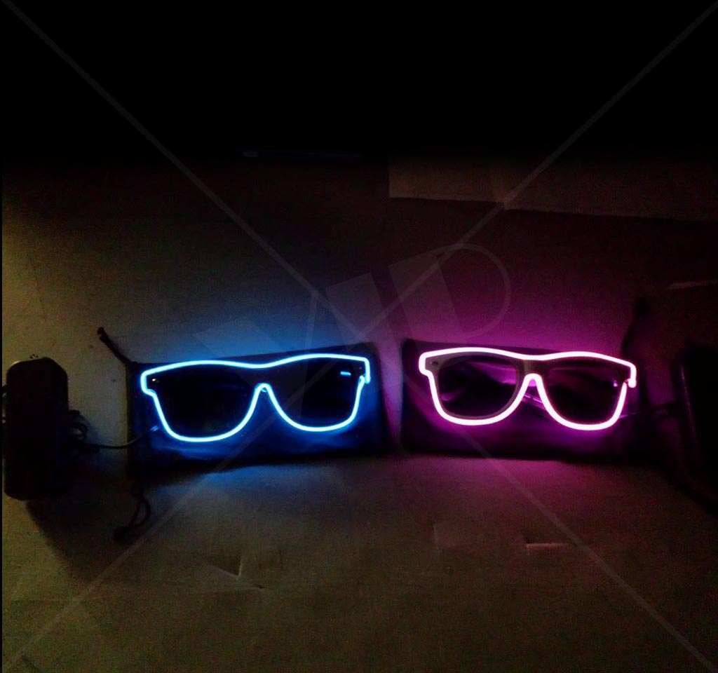Ultimate Light Up Glow Glasses EL Wire Customizable LED Shades ...