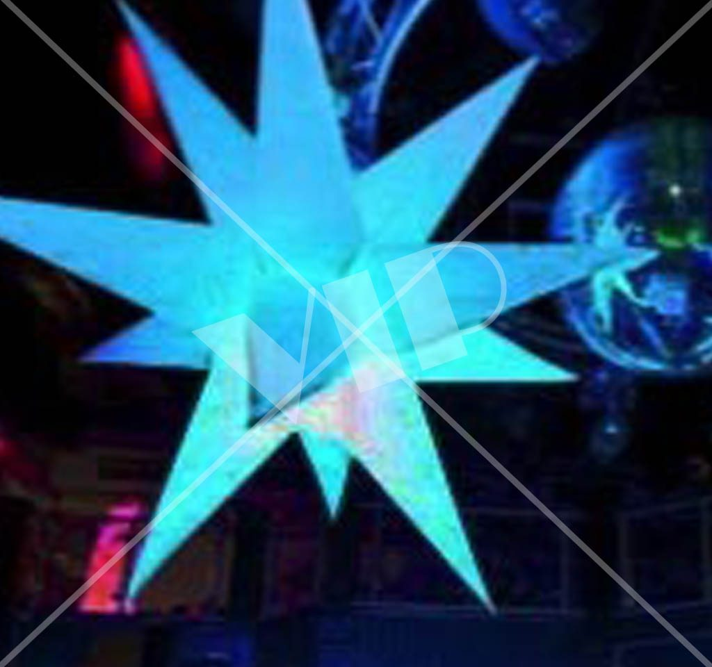 Led Inflatable Star Decoration 4 Night Club Supplies