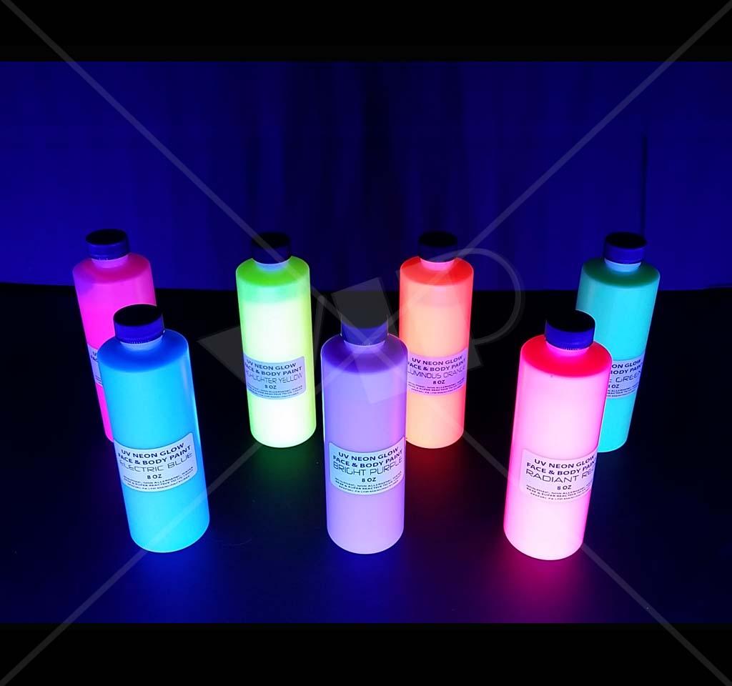 UV Black Light Neon Rave Body Glow Paint 8 OZ