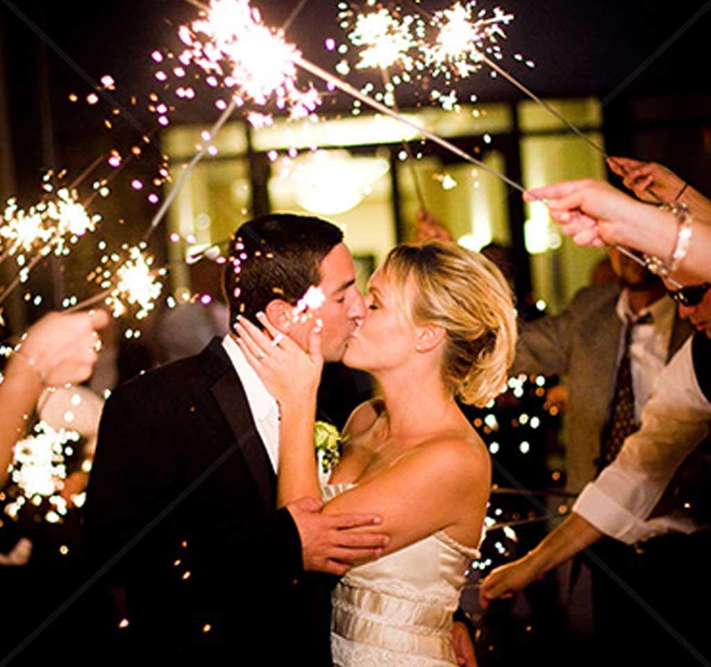 36 Gold Wire Sparklers Wedding