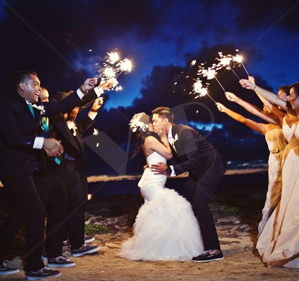 36 Gold Wire Sparklers Wedding Sparklers Night Club Supplies