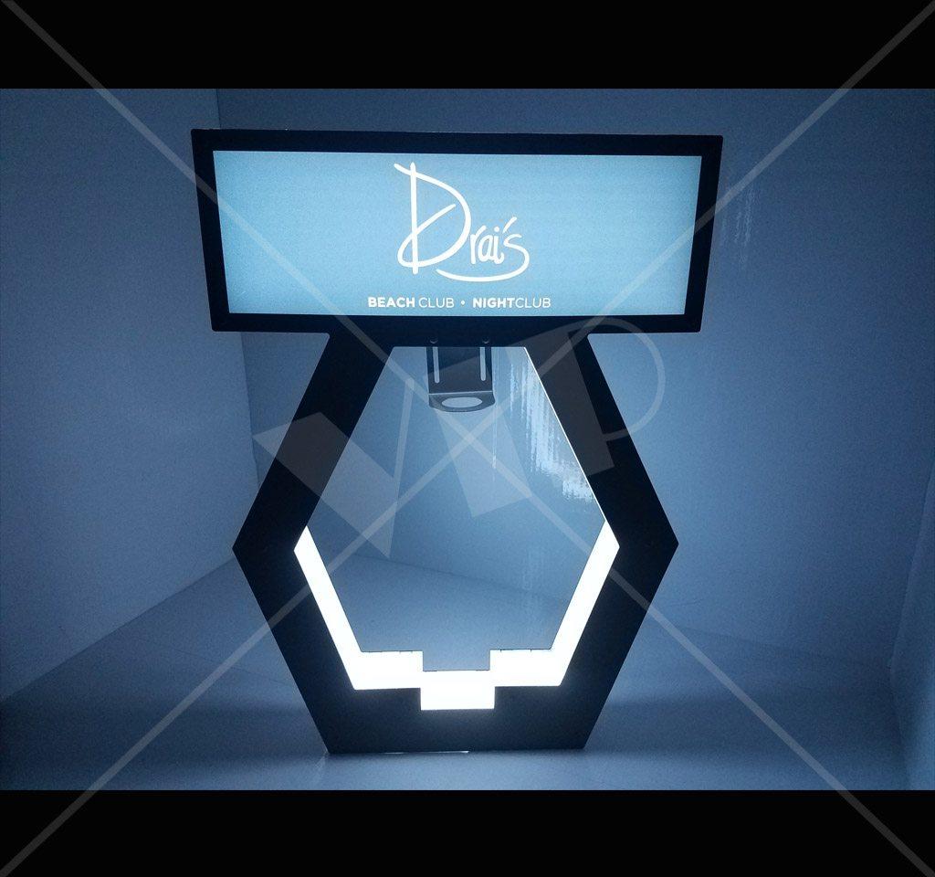vip led bottle display presenter