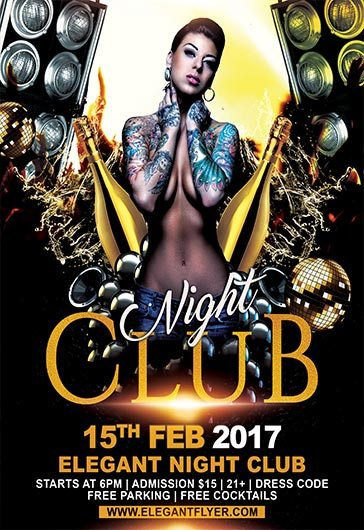 Premium Club Promotion Flyers  X  In  Night Club Supplies